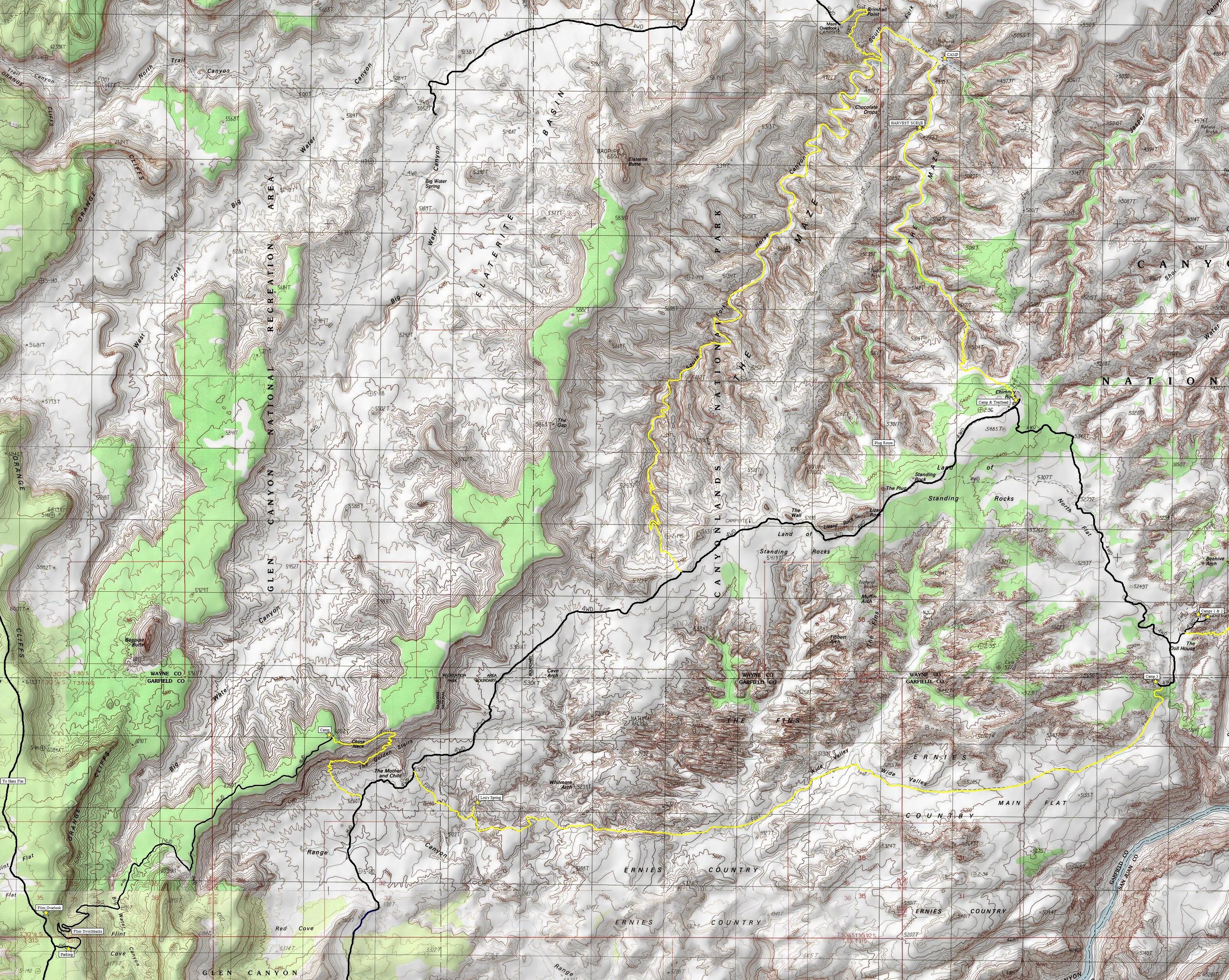 Canyonlands National Park Maze District Information