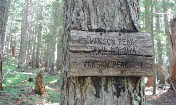 Vanson Peak Lookout Site - Vanson Lake